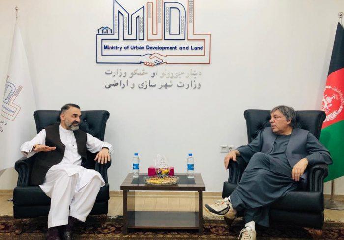 دیدار سترجنرال استاد عطامحمد نور رئیس شورای اجرایی جمعیت اسلامی با محمود کرزی