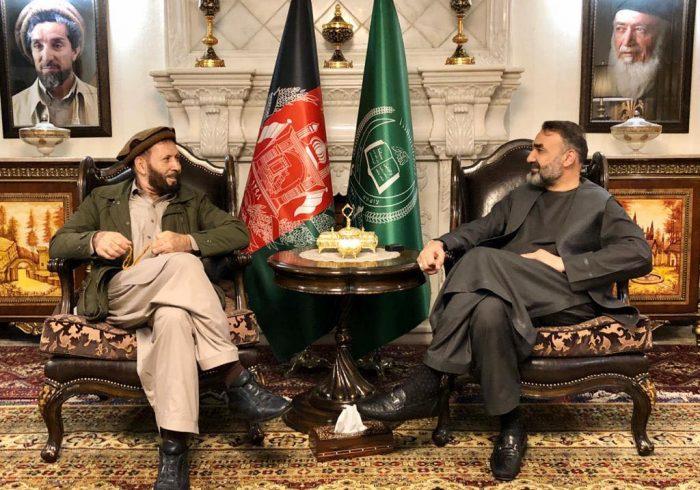 دیدار سترجنرال استاد عطا محمد نور با حاجی حضرت علی، نماینده مردم ننگرهار در ولسی جرگه