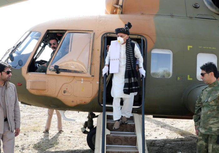 سفر غنی به غزنی؛ طالبان بر مرکز این ولایت راکت پرتاب کردند