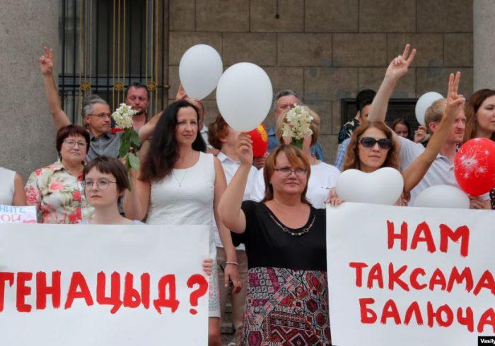 معترضان بلاروس برای دهمین روز پیاپی به در خیابان های مینسک