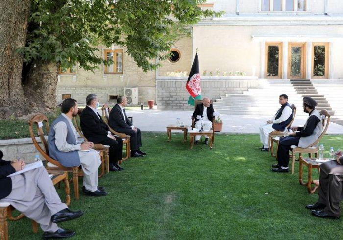 دیدار مشورتی اشرف غنی با رئیس و هیات اداری مجلس نمایندگان