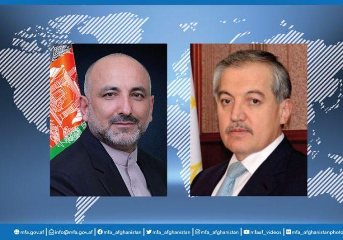 گفت و گوی تیلیفونی وزیران خارجه افغانستان و تاجیکستان