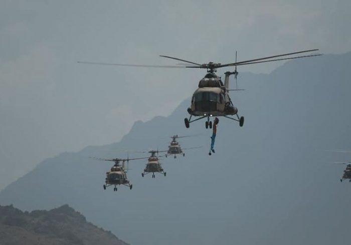 رزمایش نیروهای امنیتی و دفاعی افغانستان در کابل