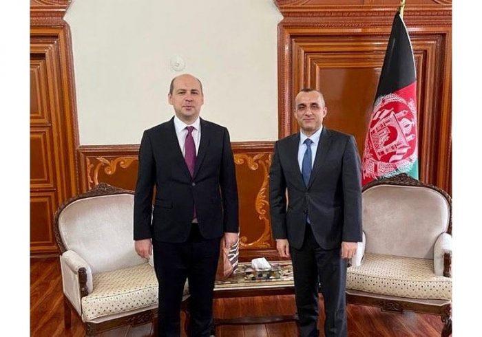 صالح در دیدار با سفیر روسیه: حضور دولت مقتدر در افغانستان به نفع جهان است