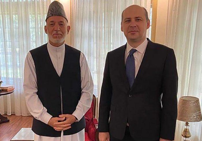 دیدار حامد کرزی با سفیر روسیه در کابل