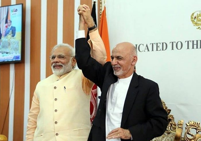 رایزنی رئیس جمهور غنی با نخست وزیر هند در خصوص اوضاع منطقهای