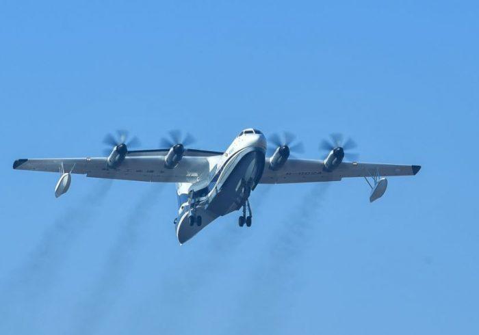 چین در حال تکمیل «بزرگترین هواپیمای آبیخاکی» جهان