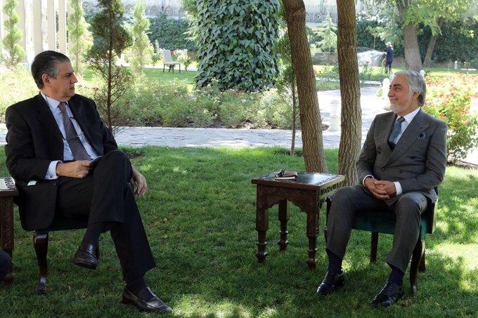 دیدار نماینده ناتو با رئیس شورای عالی مصالحهملی افغانستان