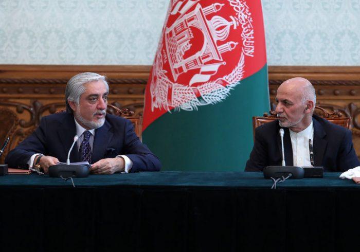دیدار غنی و عبدالله با هیأت مذاکره کننده با طالبان