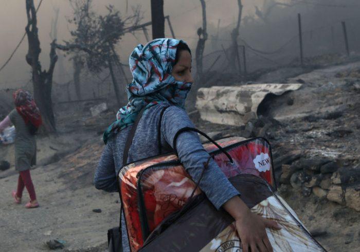 آتشسوزی مهیب در بزرگترین اردوگاه پناهندگان افغان در یونان