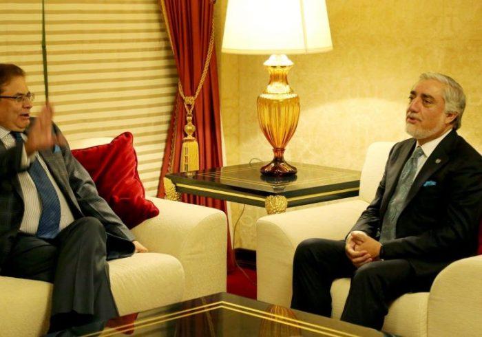 دیدار عبدالله با نمایندگان ویژه پاکستان، ناروی، ازبیکستان و آلمان در قطر