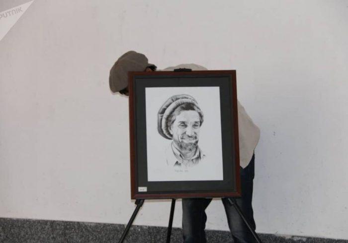 نمایشگاه نقاشی قهرمان ملی احمد شاه مسعود در پنجشیر