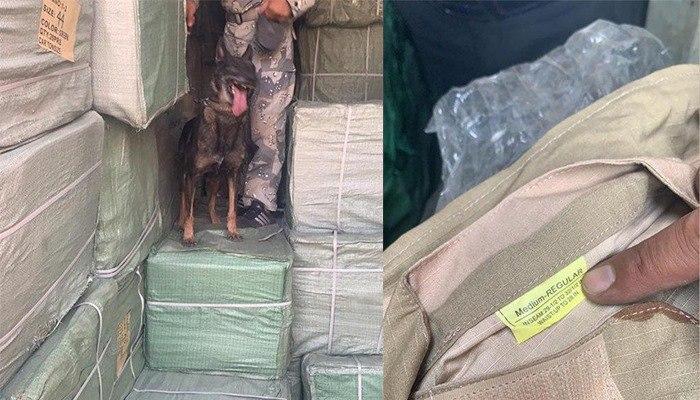 کشف یک ذخیرهگاه بزرگ البسه و یونیفورم نظامی در کابل