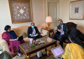 دیدار سترجنرال عطا محمد نور  سردبيران و خبرنگاران ارشد برخى از رسانه هاى هندى