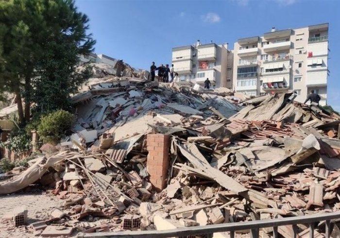 زمین لرزه ۶.۶ ریشتری در ازمیر ترکیه؛ ۴ کشته و ۱۵۲ زخمی