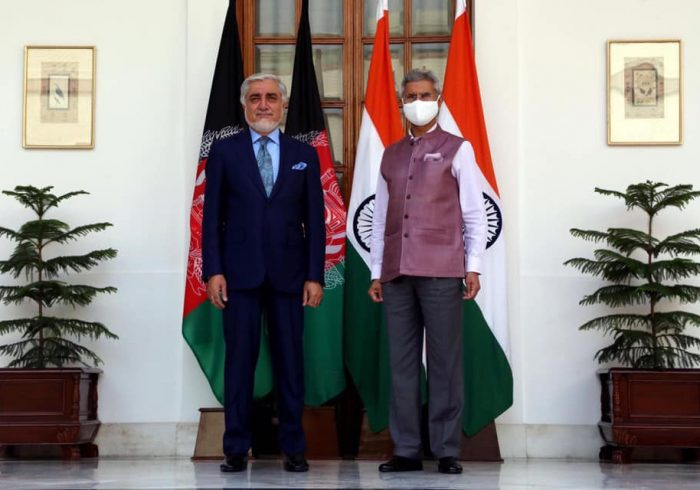 وزیر خارجه هند در دیدار با عبدالله: از تلاشهای صلح به رهبری افغانها حمایت میکنیم