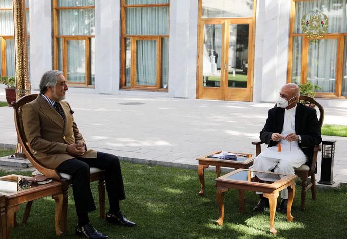 اشرفغنی و عبدالله درباره صلح گفتگو کردند