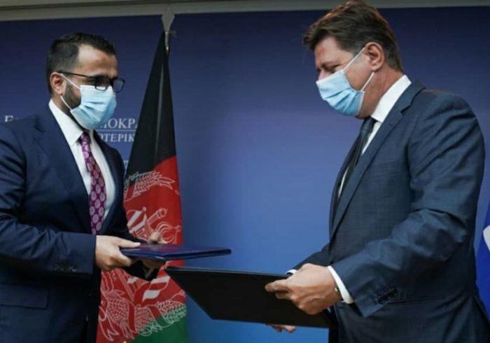 امضای یادداشت تفاهم مشورتهای سیاسی میان افغانستان و یونان