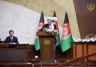 رییس جمهور در مجلس: طالبان به فکر فتح اند؛ مجلس از مذاکرات حمایت کند