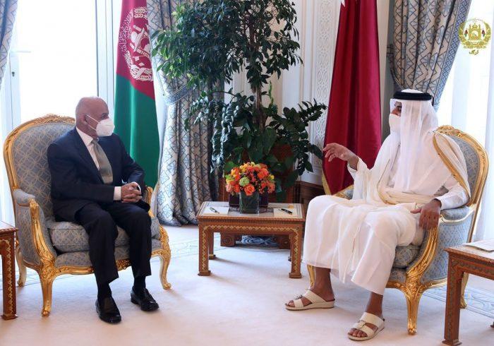رییس جمهور غنی با امیر قطر دیدار کرد