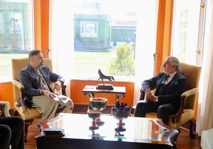 دیدار سترجنرال استاد عطامحمد نور با داکتر عبدالله عبدالله
