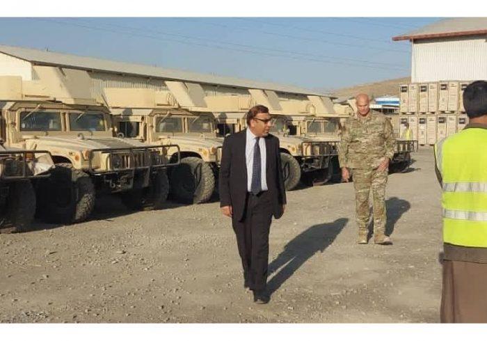 امریکا موترهای هاموی و دوربینهای شب بین به ارتش افغانستان کمک کرد