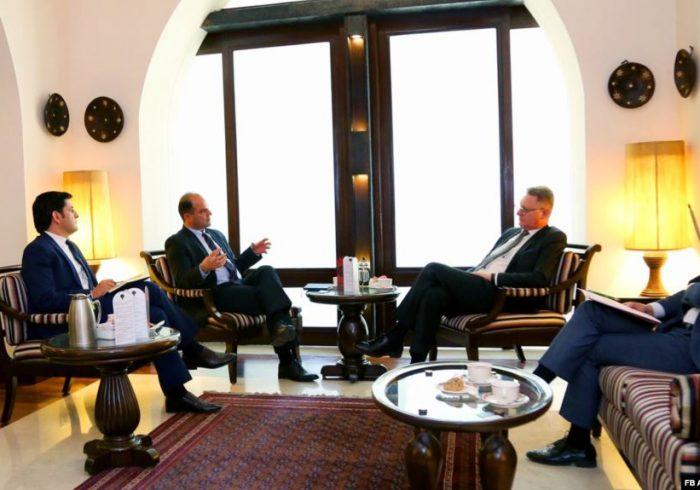 دیدار رئیس هیئت عامل اتاق تجارت افغانستان با سفیر بلاروس در کابل