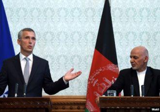 منشی عمومی ناتو با رئیس جمهور غنی درباره وضعیت افغانستان گفتوگو کرد