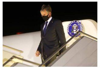 وزیرخارجۀ امریکا برای نخستین بار به اوکراین رفت