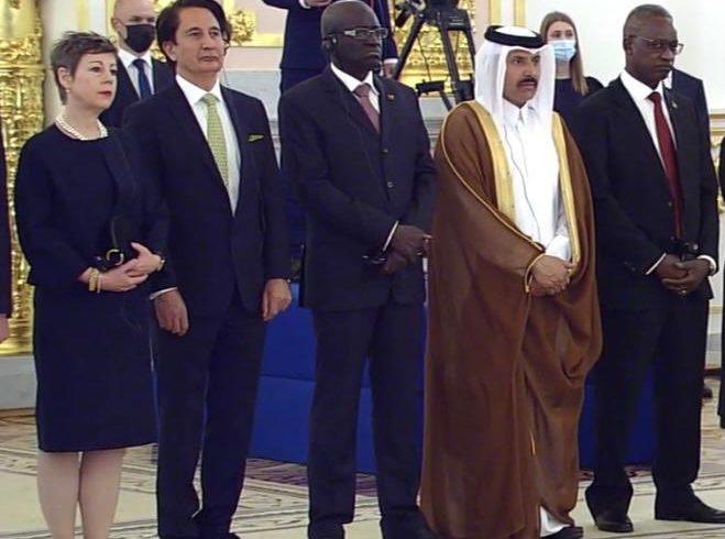 کاخ کرملین استوارنامۀ سید طیب جواد را به حیث سفیر افغانستان درمسکو پذیرفت