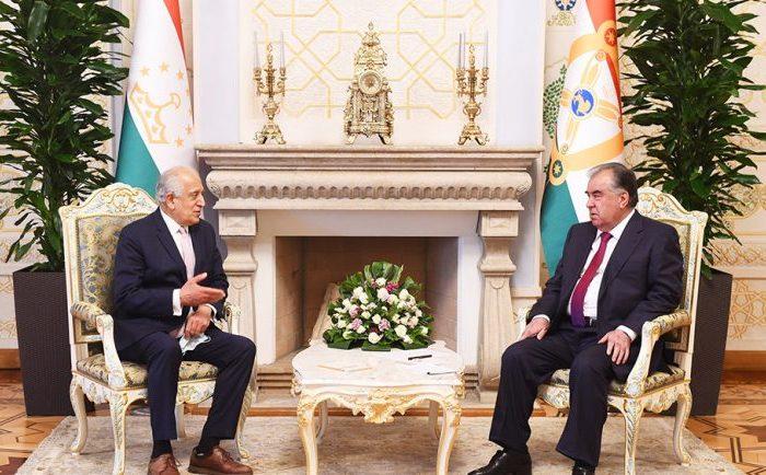 زلمی خلیلزاد با رییس جمهور تاجیکستان در مورد صلح افغانستان گفت وگو کرد