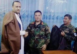 داوود لغمانی در یک پایگاۀ ارتش در فاریاب بهعنوان والی معرفی شد