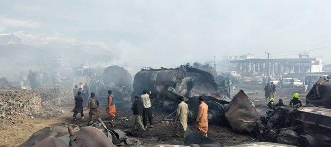 آتشسوزی تانک تیل و تانکرهای مواد نفتی درکابل ۷ کشته و ۱۴ زخمی برجای گذاشت