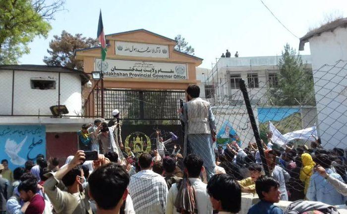 تظاهرات در ولایت بدخشان به خشونت کشیده شد