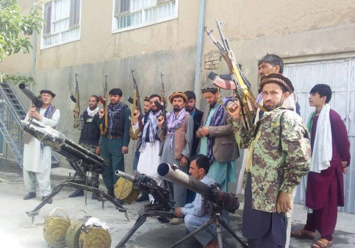 بسیج نیروهای مردمی علیه طالبان در ولسوالی خنجان ولایت بغلان