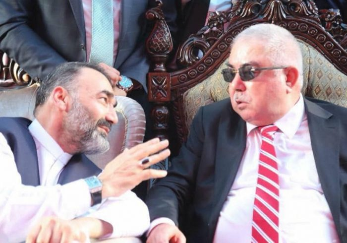 استادعطامحمد نور و جنرال دوستم در مورد«توسعه بسیج نیروهای مردمی» صحبت کردند