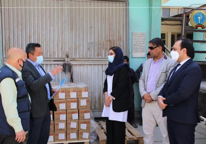 کمک ۵۰۰ پایه دستگاه مولد آکسجن از طرف سازمان صحی جهان به آفغانستان