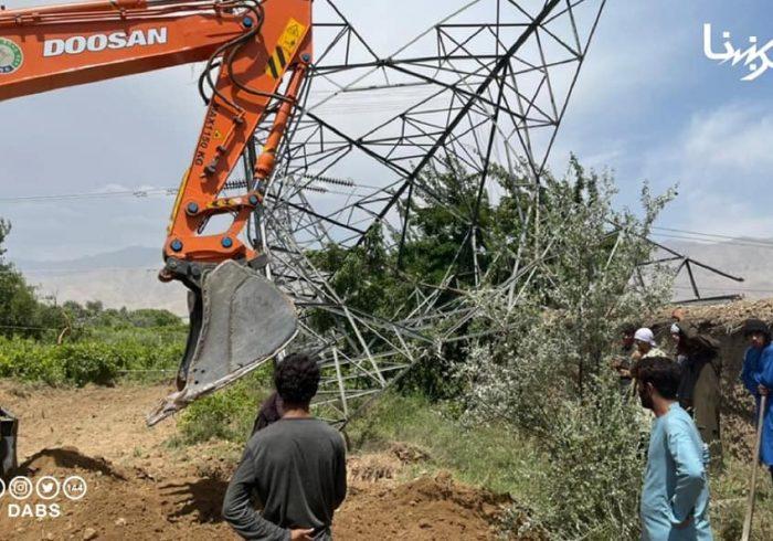 شرکت برشنا: در شش ماه ۳۰ پایه برق وارداتی با انفجار ماین تخریب شده است