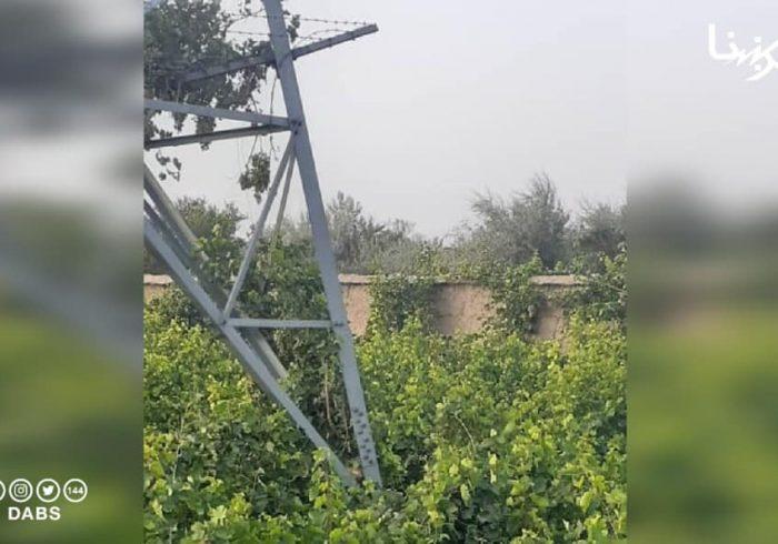 بازهم یک پایه برق وارداتی در پروان انفجار داده شد