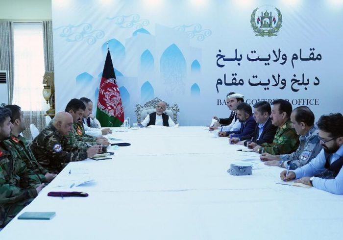 رییسجمهور در ولایت بلخ: نیروهای امنیتی حمایت کامل رهبری حکومت را با خود دارند