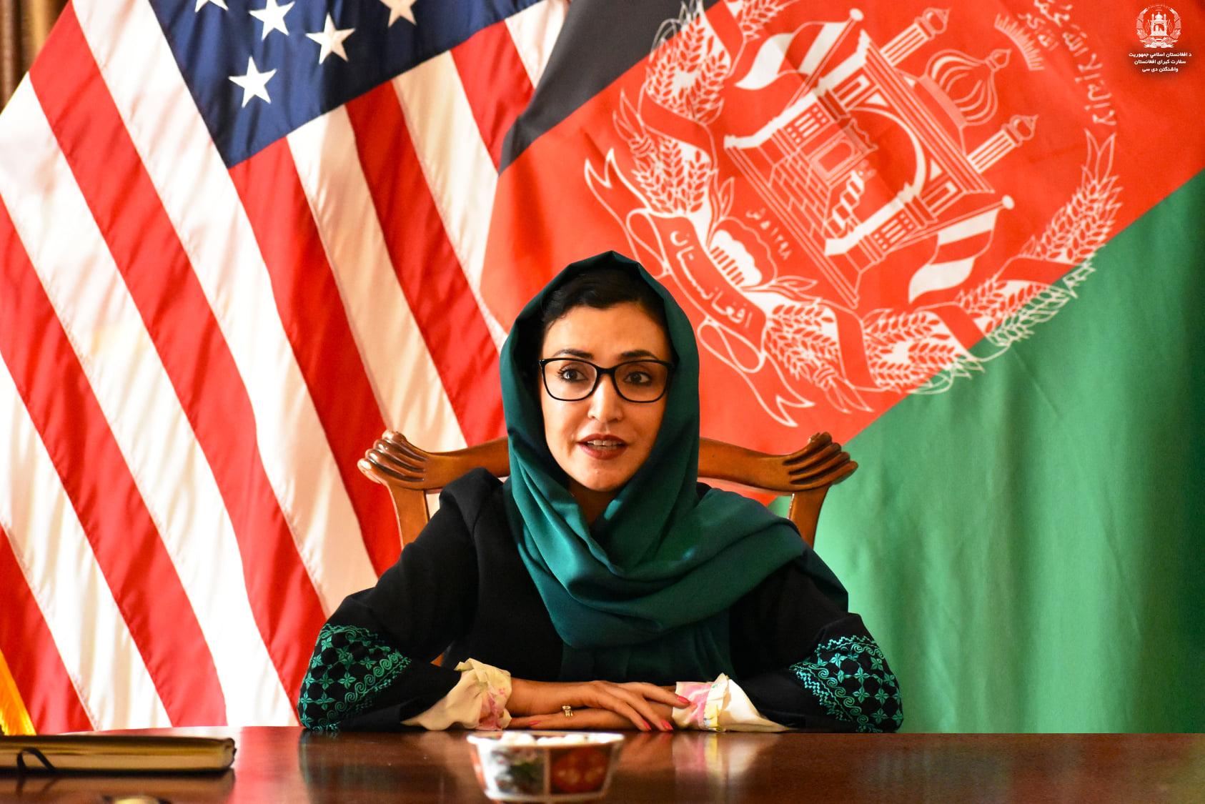 آغاز کار عادله راز به عنوان سفیرجدید افغانستان در آمریکا