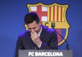خدا حافظی با بارسلونا، اشک مسی را درآورد