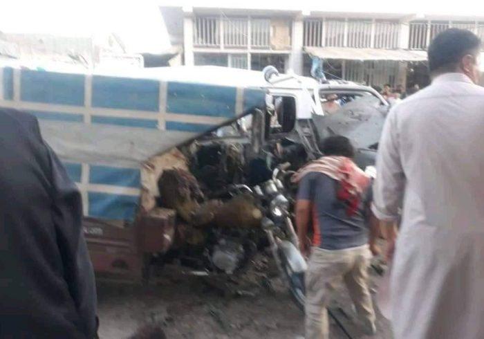 کشته وزخمی شدن ۱۳، تن در اثر انفجار موتر مسافربری در هرات