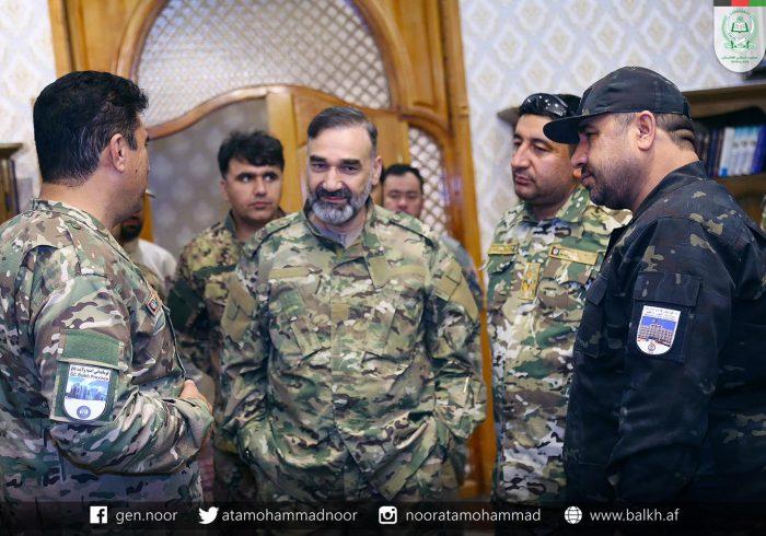 استاد عطامحمد نور با فرمانده جدی پولیس بلخ دیدار کرد