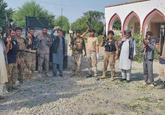 درگیری پولیس با طالبان در خوست؛ صد فرد وابسته به گروه طالبان کشته شدند