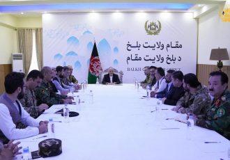 نشست ارشد امنیتی با حضور رییس جمهور غنی و استاد عطا محمد نور برگزار شد
