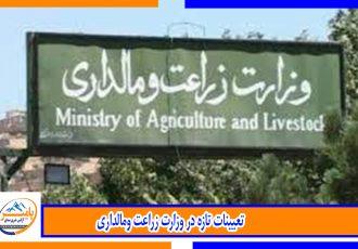 تعیینات تازه در وزارت زراعت ومالداری